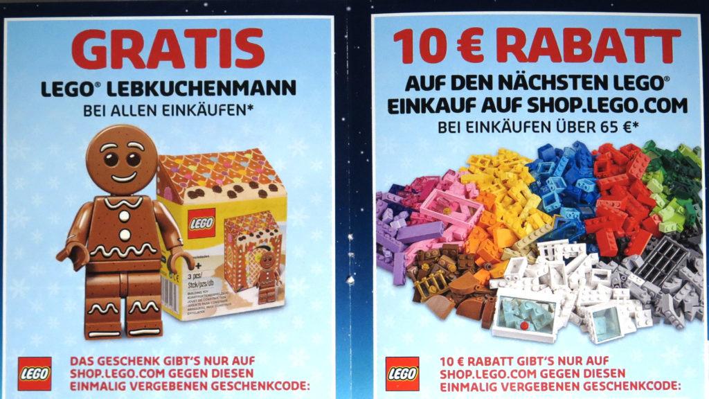 LEGO® Weihnachtskatalog 2017 Beilage Gutschein | © 2017 Brickzeit