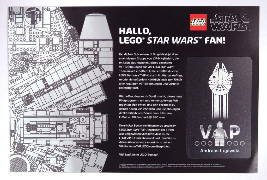 Exklusive, schwarze LEGO VIP-Karte Vorderseite Flyer | © 2017 Brickzeit