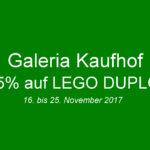 Galeria Kaufhof 15 Prozent auf LEGO DUPLO | © 2017 Brickzeit