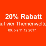 20 Prozent auf ausgewählteLEGO Themenwelten vom 06. bis 11.12.2017 | ® 2017 Brickzeit