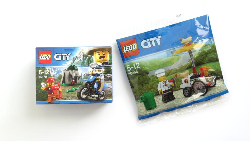 LEGO® City 60170 Offroad Verfolgungsjagd und 30356 Hotdog-Wagen | ©2017 Brickzeit