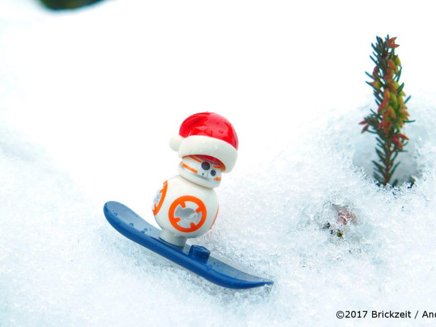 LEGO Fotografie Snowboarden BB-8 Bild 01 | ©2017 Brickzeit