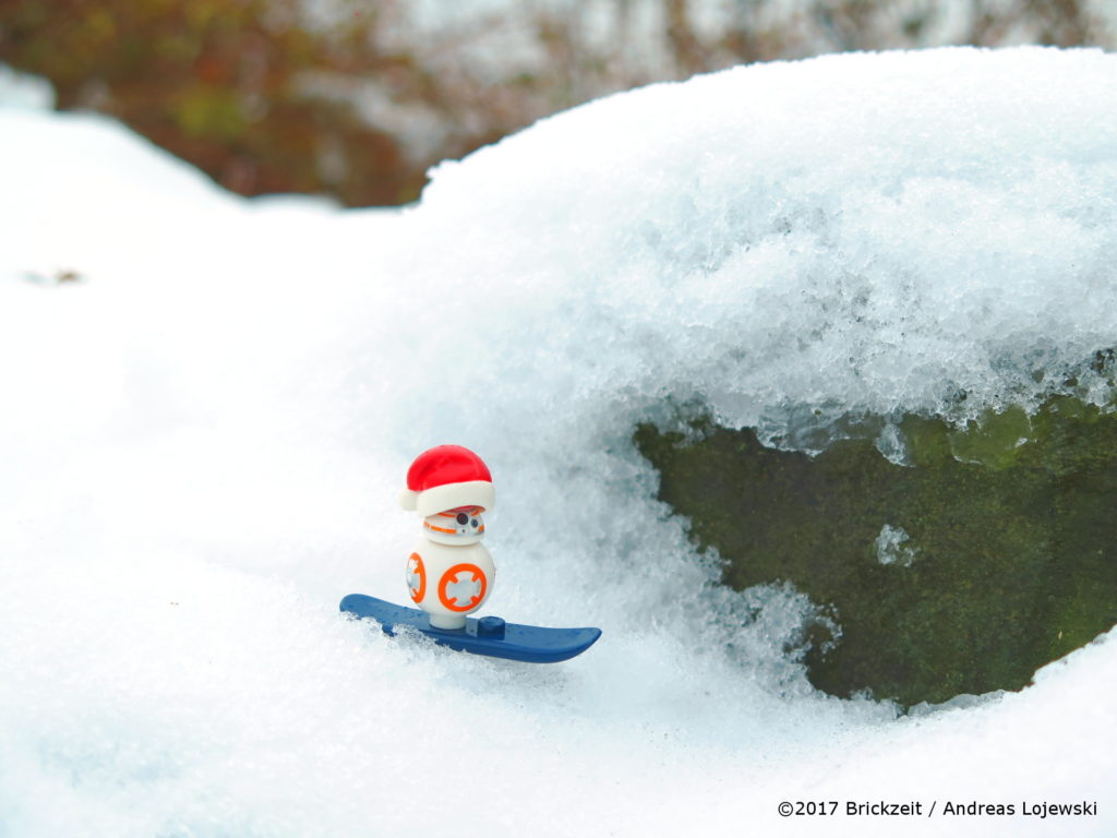 LEGO Fotografie Snowboarden BB-8 Bild 02 | ©2017 Brickzeit