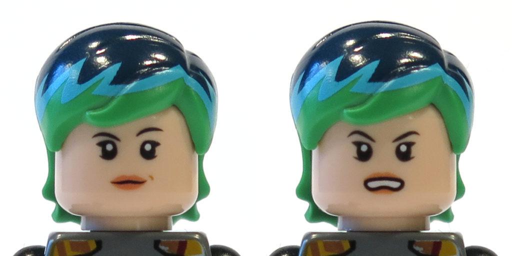 Gesichter von Sabine Wren aus Tür 2 vom LEGO® Star Wars™ Adventskalender 2017 | © 2017 Brickzeit