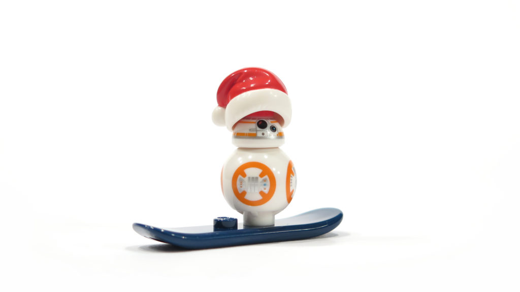 BB-8 mit Snowboard aus Tür 23 vom LEGO® Star Wars™ Adventskalender 2017 | © 2017 Brickzeit