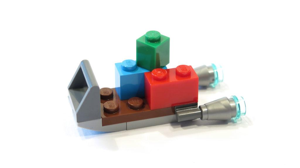 Raketenschlitten mit Geschenken aus Tür 23 vom LEGO® Star Wars™ Adventskalender 2017 | © 2017 Brickzeit