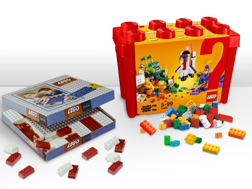 60 Jahre LEGO Stein - Verpackungen damals und heute | ©LEGO Gruppe