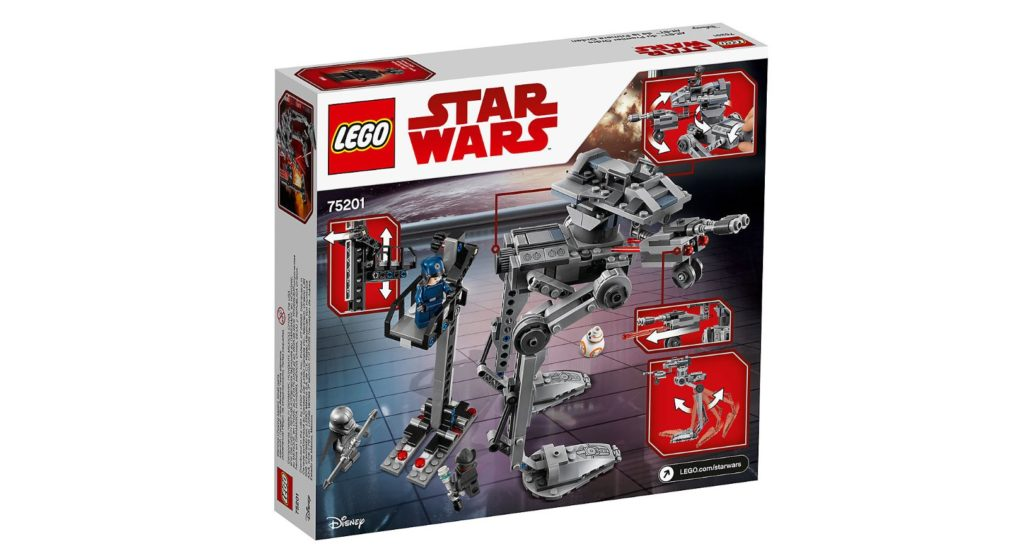 LEGO® Star Wars™ 75201 First Order AT-ST™ Packung Rückseite | ©LEGO Gruppe