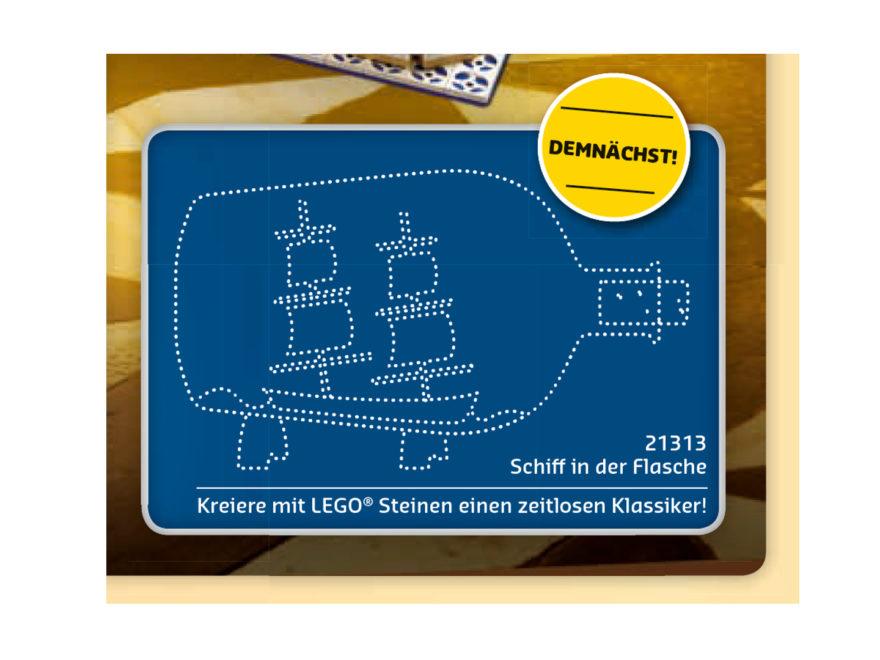 Ankündigung LEGO Ideas 21313 Schiff in der Flasche | © LEGO Gruppe