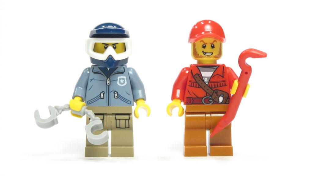 LEGO® City 60170 Offroad-Verfolgungsjagd - Vorderseite Minifiguren | © 2018 Brickzeit