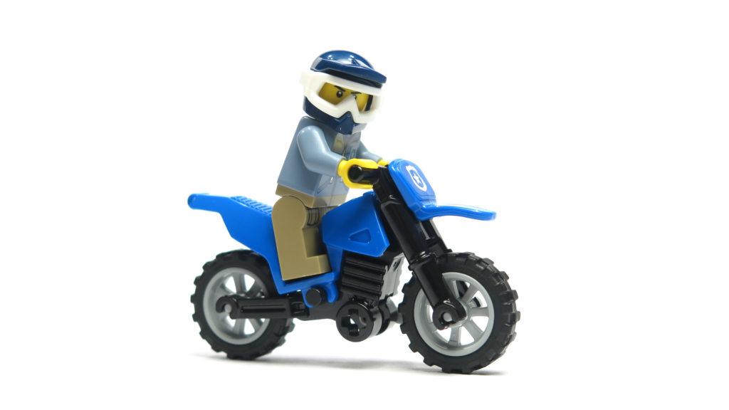 LEGO® City 60170 Offroad-Verfolgungsjagd - Motorrad mit Fahrer | © 2018 Brickzeit