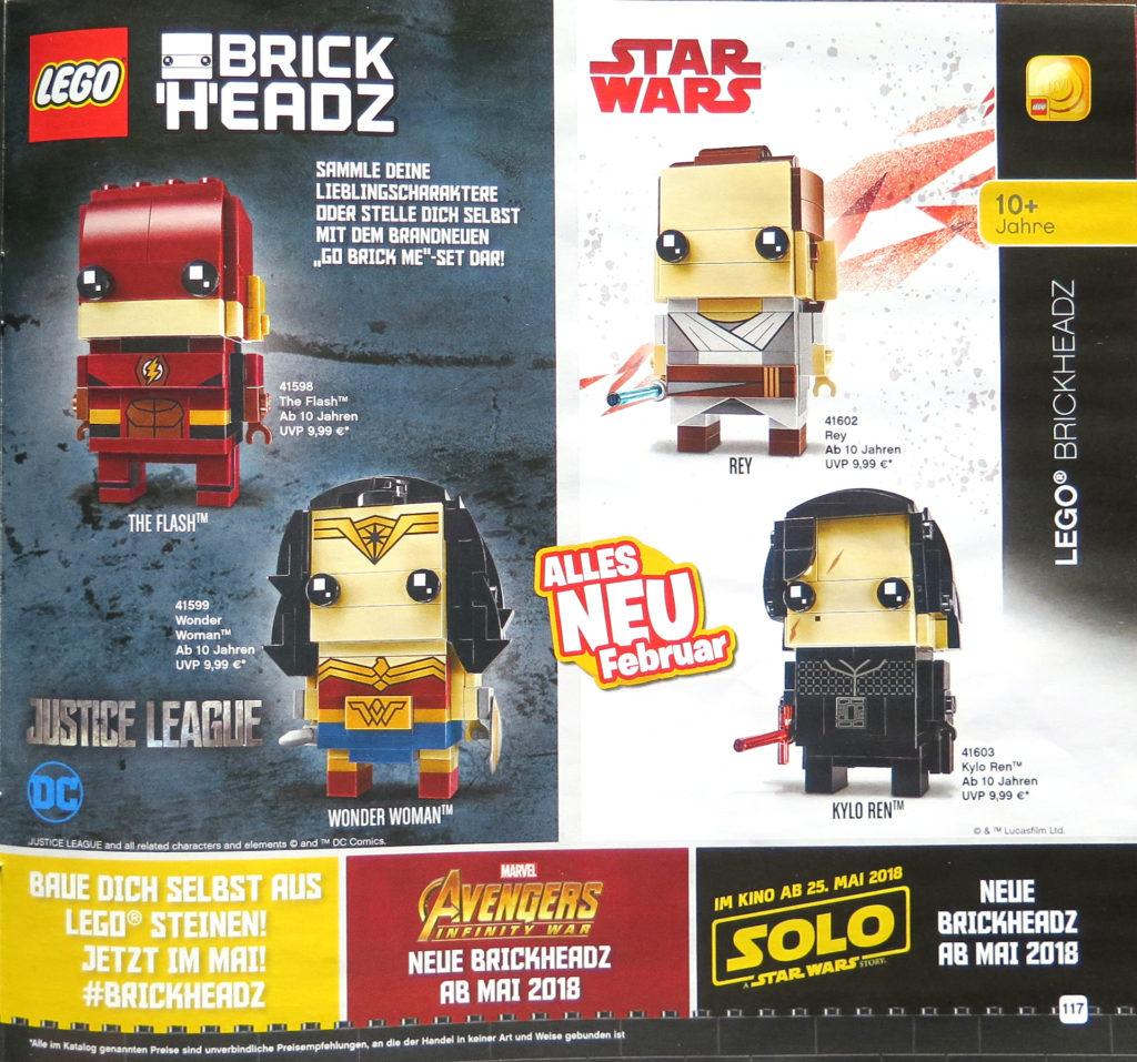 LEGO Katalog Januar bis Juni 2018 - Brickheadz | © 2018 Brickzeit