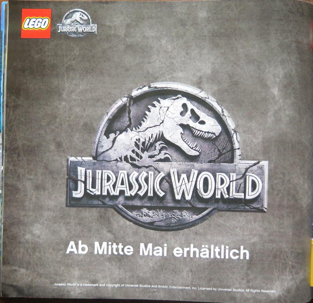 LEGO Katalog Januar bis Juni 2018 - Jurassic World | © 2018 Brickzeit