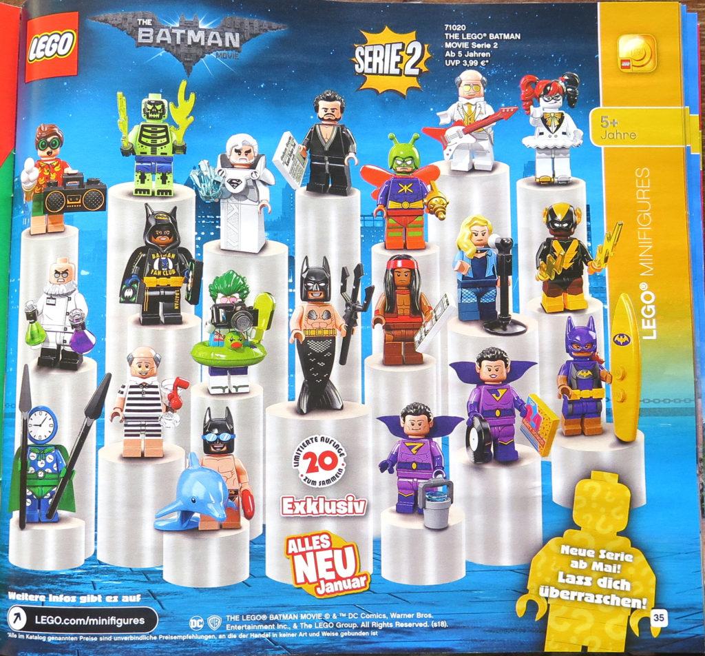 LEGO Katalog Januar bis Juni 2018 - Minifiguren | © 2018 Brickzeit