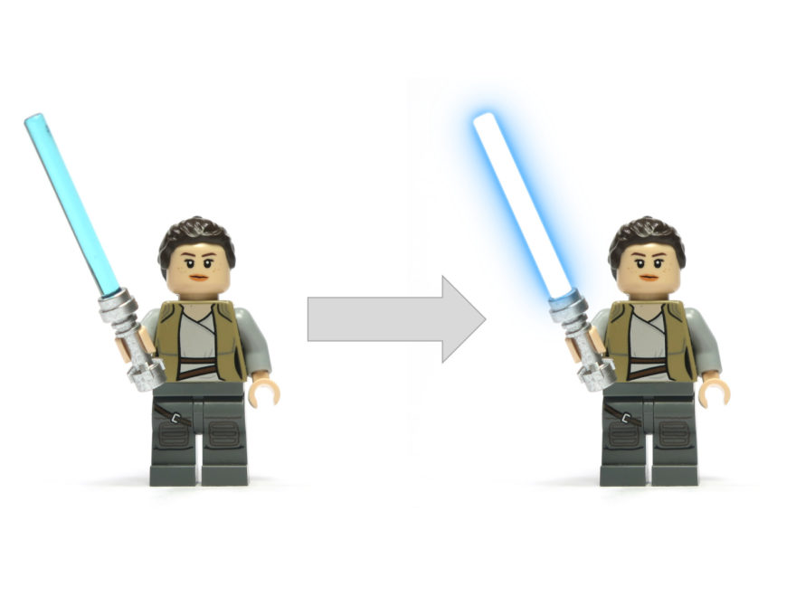 LEGO Lichtschwert mit Gimp erstellen - Titelbild | © 2018 Brickzeit