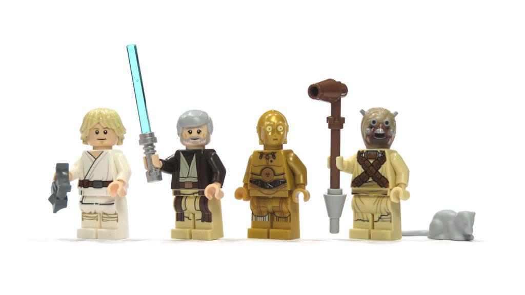 LEGO® Star Wars™ 75173 Luke's Landspeeder - Figuren Vorderseite | © 2018 Brickzeit