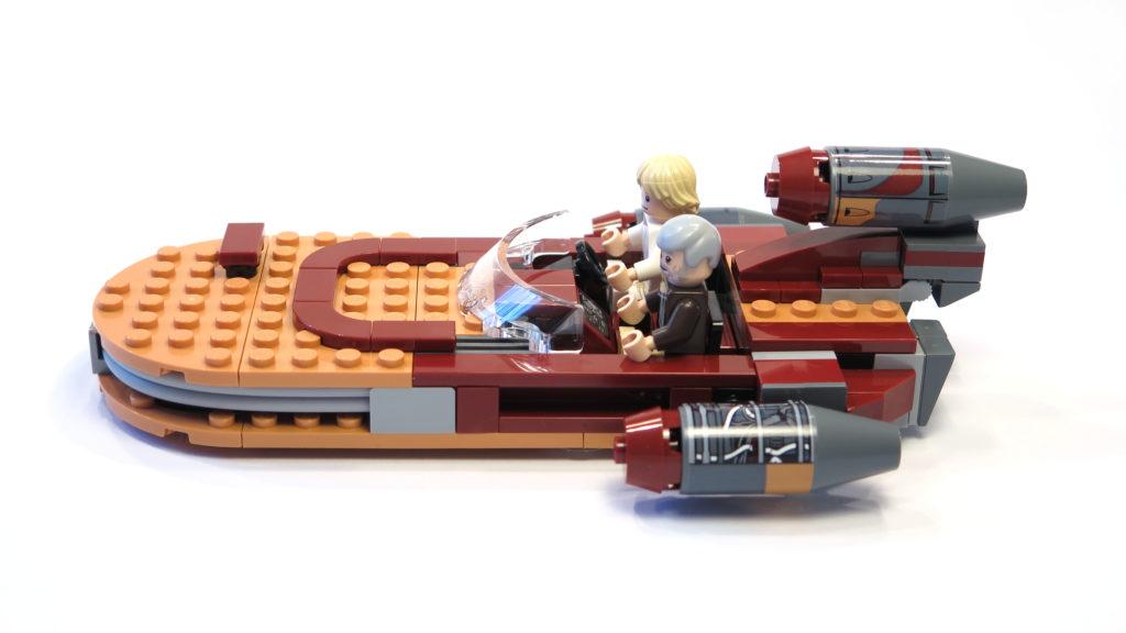 LEGO® Star Wars™ 75173 Luke's Landspeeder - linke Seite | © 2018 Brickzeit