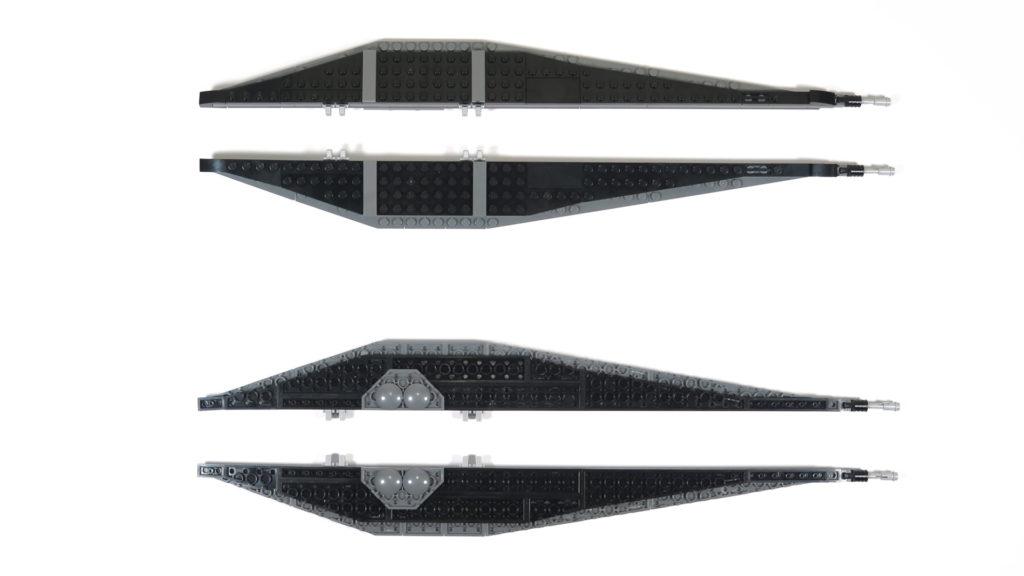 LEGO® Star Wars™ 75179 Kylo Ren's TIE Fighter - Bauabschnitt 5 & 6 - Flügel | ©2018 Brickzeit