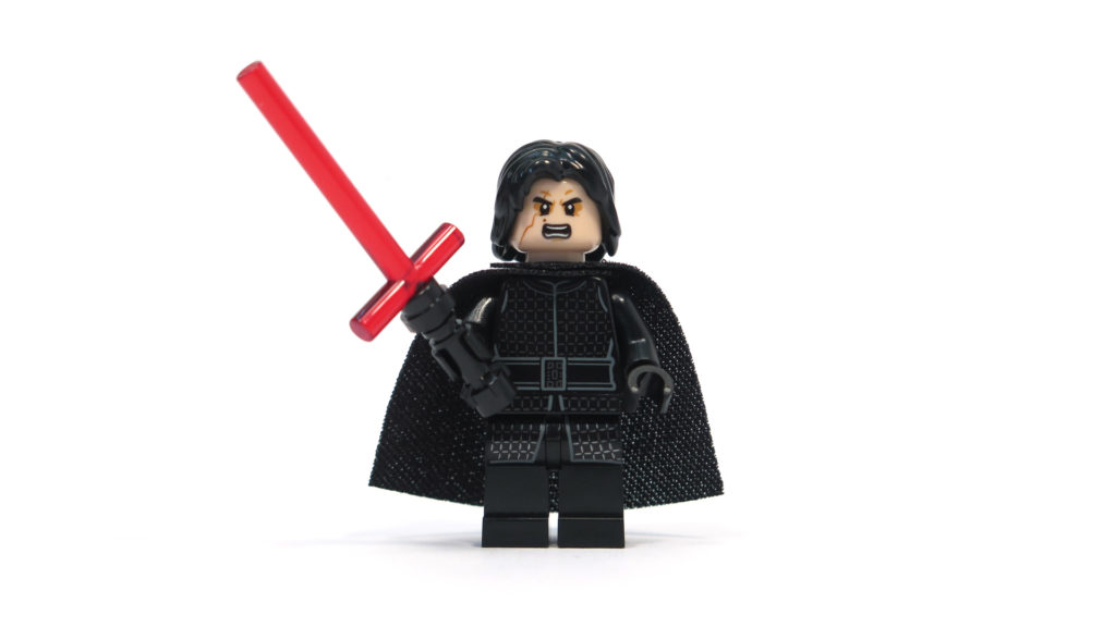 LEGO® Star Wars™ 75179 Kylo Ren's TIE Fighter - Kylo Ren Minifigur - alternatives Gesicht | ©2018 Brickzeit