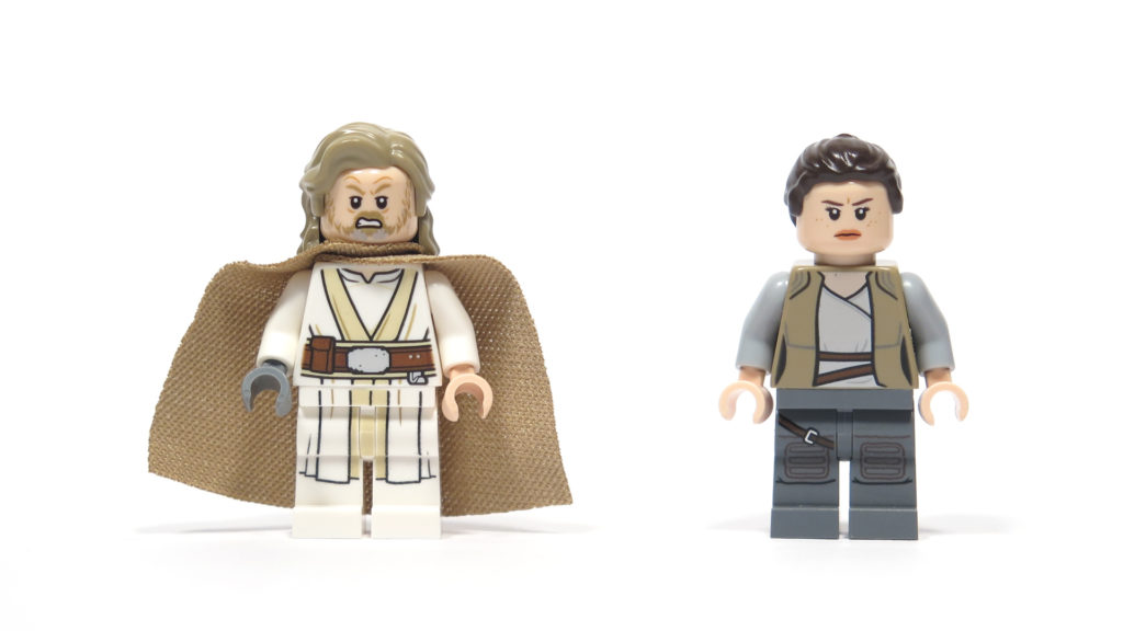 LEGO® Star Wars™ 75200 Ahch-To Island™ Training - Rey und Luke alternative Gesichter | ©2018 Brickzeit