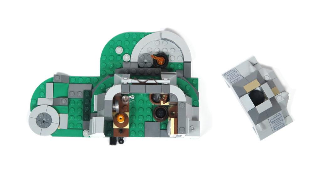 LEGO® Star Wars™ 75200 Ahch-To Island™ Training - Steinhütte offen von oben | ©2018 Brickzeit