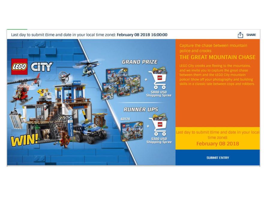 "LEGO Rebrick Wettbewerb - The Great Mountain Chase"" - Titelbild | ®LEGO Gruppe"