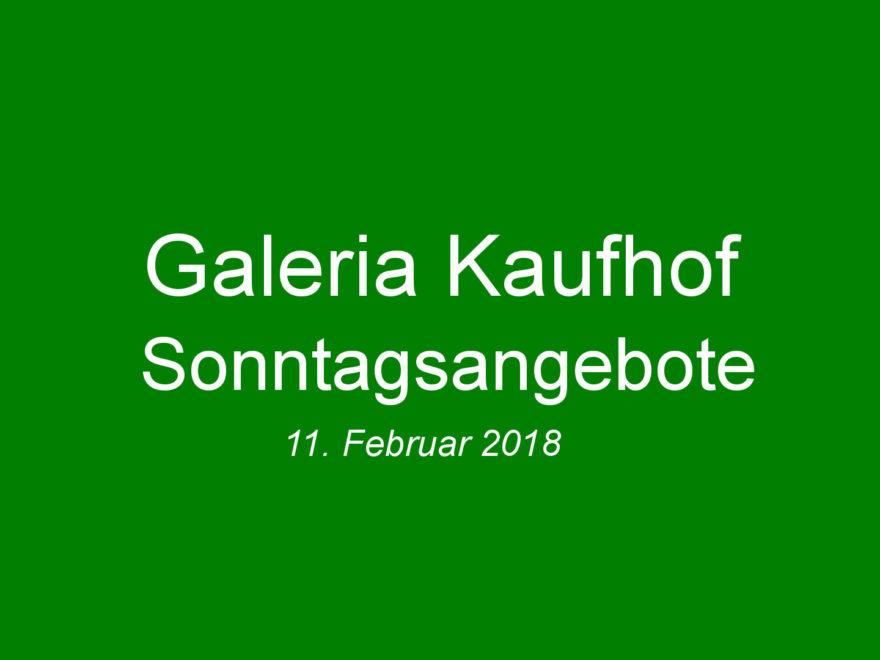 Galeria Kaufhof Sonntagsangebote am 11.02.2018 | ©2018 Brickzeit