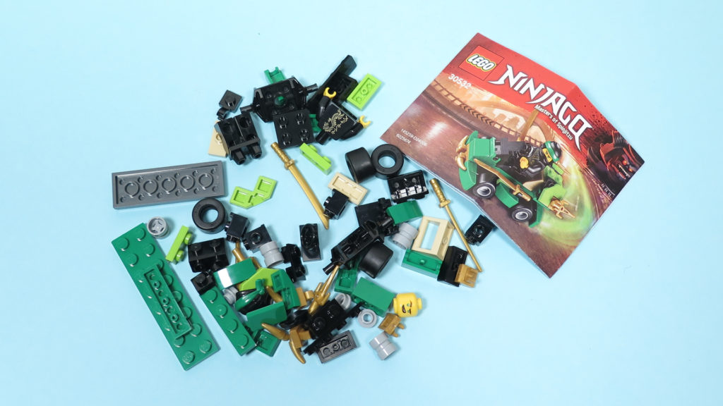 LEGO® NINJAGO® Polybag 30352 Turbo Set - Inhalt Polybag | ©2018 Brickzeit