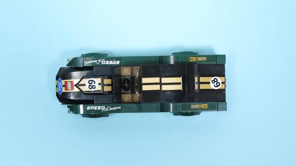 LEGO® Speed Champions - 75884 - 1968 Ford Mustang Fastback - Draufsicht | ©2018 Brickzeit