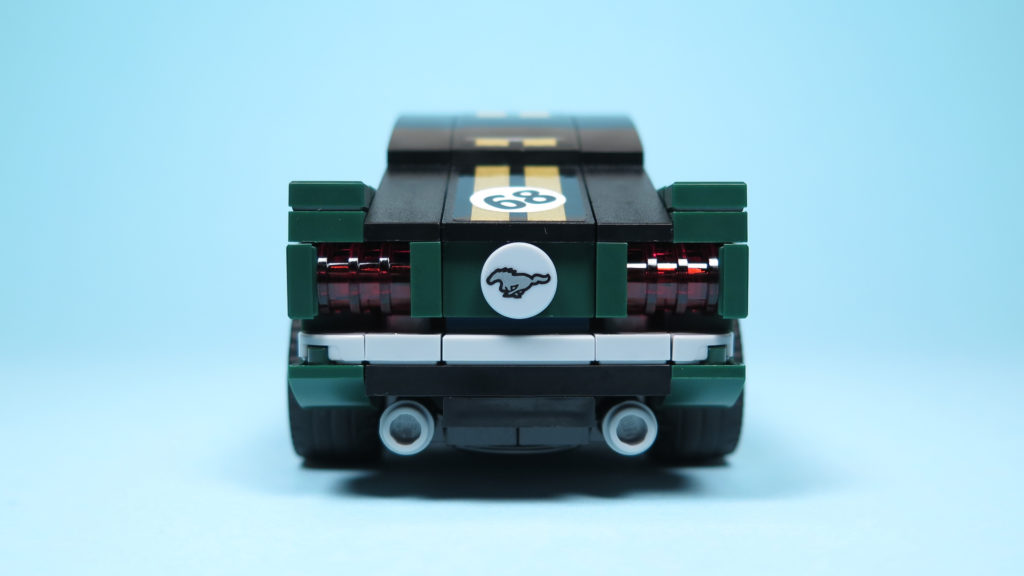 LEGO® Speed Champions - 75884 - 1968 Ford Mustang Fastback - Heck   ©2018 Brickzeit