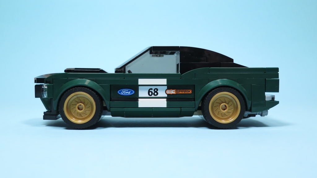 LEGO® Speed Champions - 75884 - 1968 Ford Mustang Fastback - linke Seite | ©2018 Brickzeit