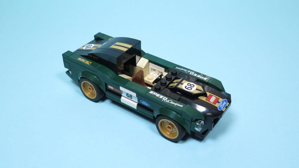 LEGO® Speed Champions - 75884 - 1968 Ford Mustang Fastback - Perspektive, offenes Dach   ©2018 Brickzeit