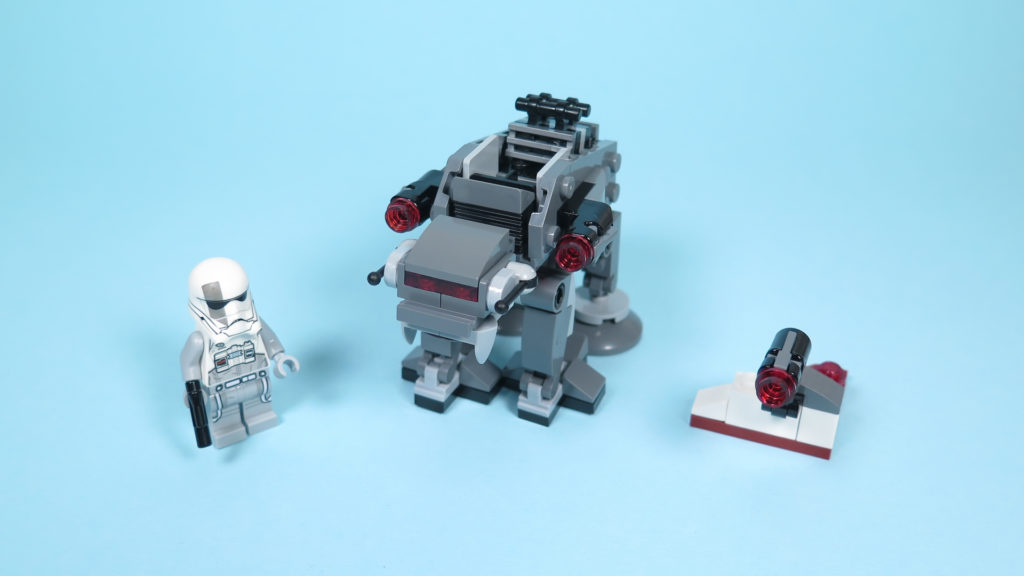 LEGO® Star Wars™ 75195 Ski Speeder™ vs. First Order Walker™ Microfighters - First Order Walker mit Figur und Geschütz | ©2018 Brickzeit