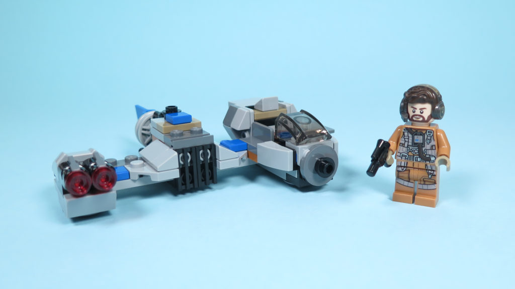 LEGO® Star Wars™ 75195 Ski Speeder™ vs. First Order Walker™ Microfighters - Ski Speeder mit Figur | ©2018 Brickzeit