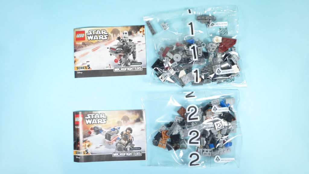LEGO® Star Wars™ 75195 Ski Speeder™ vs. First Order Walker™ Microfighters - Inhalt | ©2018 Brickzeit