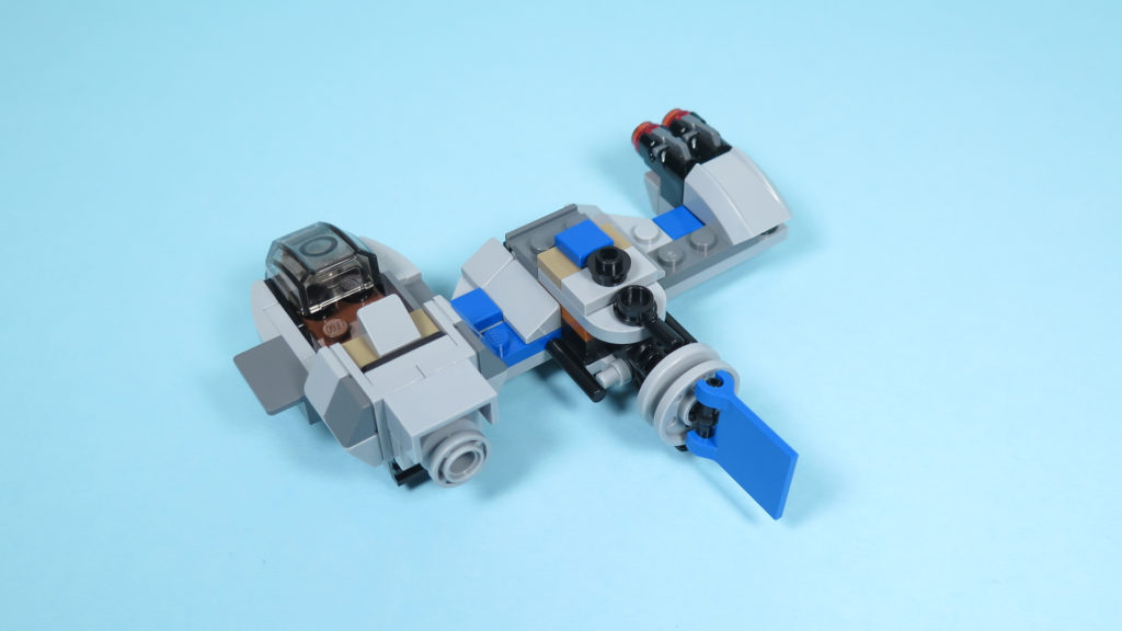 LEGO® Star Wars™ 75195 Ski Speeder™ vs. First Order Walker™ Microfighters - Speeder hinten | ©2018 Brickzeit
