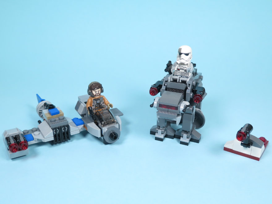 LEGO® Star Wars™ 75195 Ski Speeder™ vs. First Order Walker™ Microfighters - Titelbild | ©2018 Brickzeit