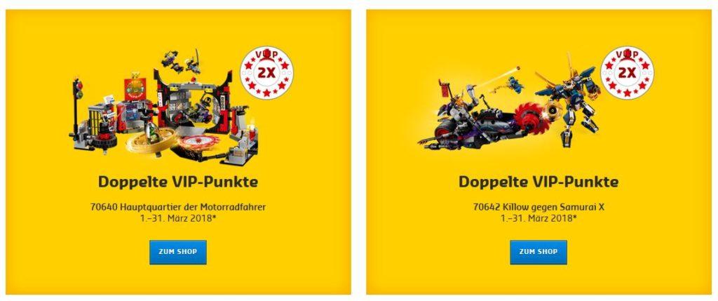 Doppelte LEGO VIP-Punkte auf die Ninjago Sets 70640 und 70642 | ©LEGO Gruppe