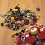 Die letzten Steine des LEGO® Hulkbuster: Ultron Edition 76102 | ©2018 Brickzeit