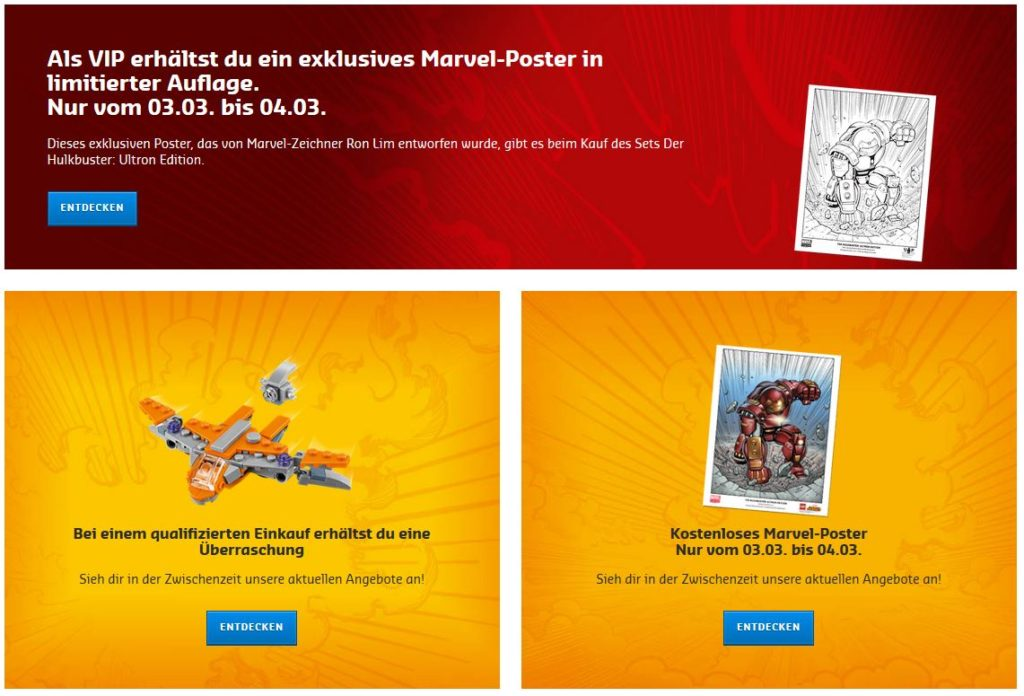 LEGO Marvel Super Heroes Aktionen 03. und 04. März 2018 | ©LEGO Gruppe