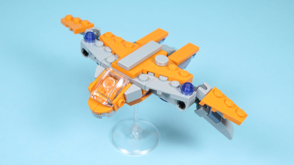 LEGO® Marvel Super Heroes 30525 The Guardians Ship / Das Schiff der Wächter - Perspektive | ©2018 Brickzeit