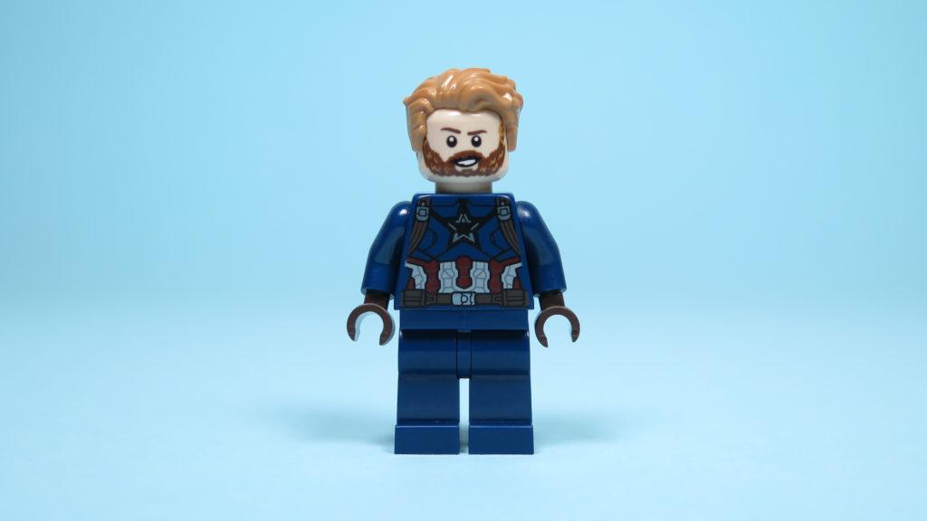 LEGO® Marvel Super Heroes 76101 Outrider Dropship-Attacke - Captain America Vorderseite, Gesicht 1 | ©2018 Brickzeit