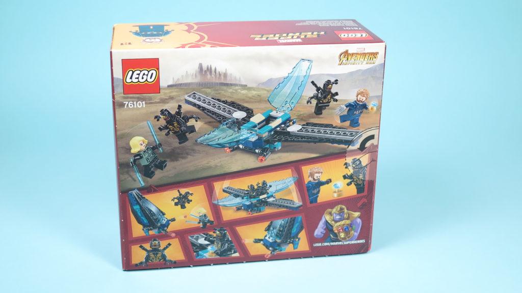 LEGO® Marvel Super Heroes 76101 Outrider Dropship-Attacke - Packung Rückseite | ©2018 Brickzeit