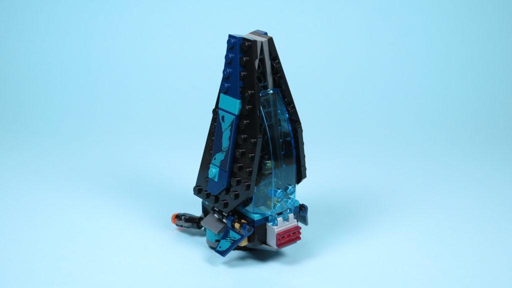 LEGO® Marvel Super Heroes 76101 Outrider Dropship-Attacke - Raumschiff Rückseite | ©2018 Brickzeit
