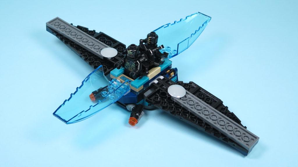 LEGO® Marvel Super Heroes 76101 Outrider Dropship-Attacke - geöffnet mit Minifiguren | ©2018 Brickzeit