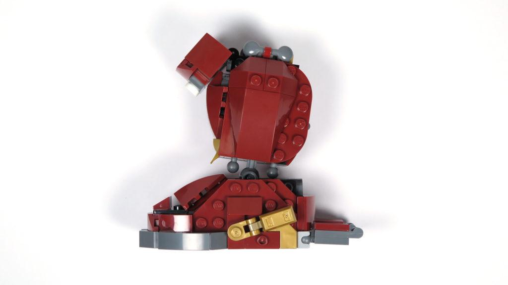 LEGO® Marvel Super Heroes - 76105 - Der Hulkbuster: Ultron Edition - Bauabschnitt 4 - Unterschenkel und Fuß seitlich | ©2018 Brickzeit
