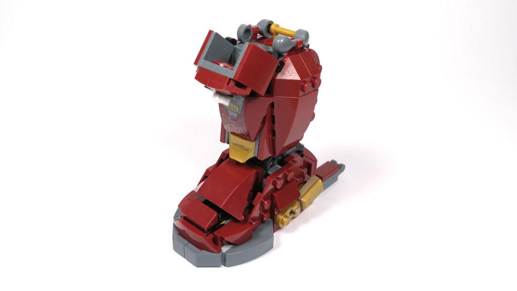LEGO® Marvel Super Heroes - 76105 - Der Hulkbuster: Ultron Edition - Bauabschnitt 4 - Unterschenkel und Fuß | ©2018 Brickzeit