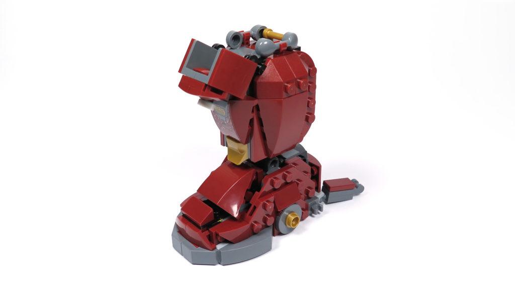 LEGO® Marvel Super Heroes - 76105 - Der Hulkbuster: Ultron Edition - Bauabschnitt 5 - rechter Fuß und Unterschenkel | ©2018 Brickzeit