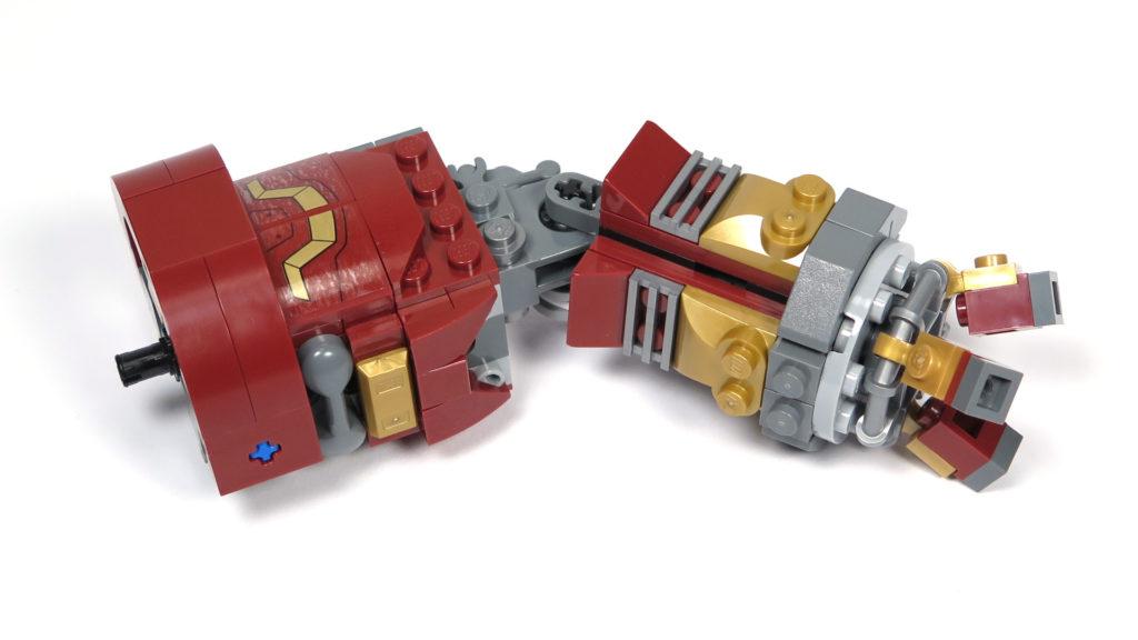 LEGO® Marvel Super Heroes - 76105 - Der Hulkbuster: Ultron Edition - Bauabschnitt 7 - linker Arm | ©2018 Brickzeit