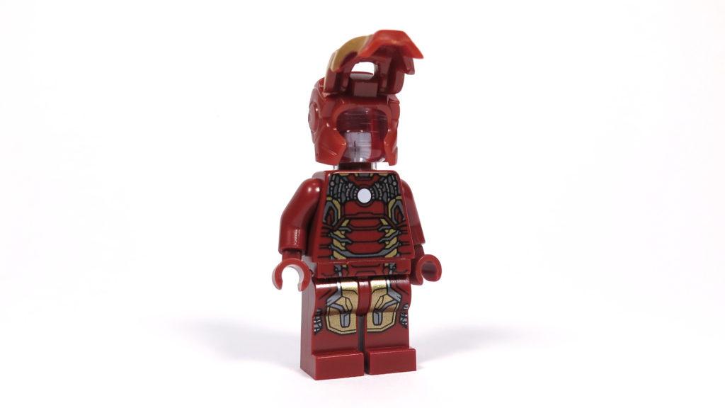 LEGO® Marvel Super Heroes - 76105 - Der Hulkbuster: Ultron Edition - Iron Man Minifigur mit geöffnetem Helm | ©2018 Brickzeit